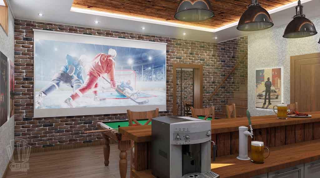 Дизайн интерьера бара кафе в Тюмени ул. Федерации, 37. Мужской среда (1)