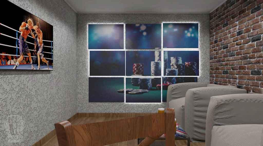 Дизайн интерьера бара кафе в Тюмени ул. Федерации, 37. Мужской среда (2)