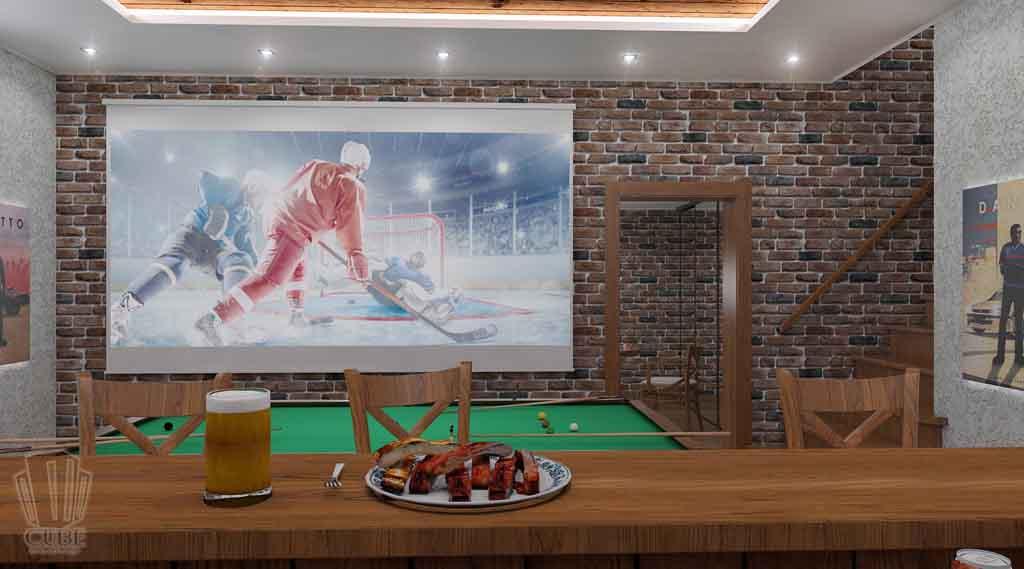 Дизайн интерьера бара кафе в Тюмени ул. Федерации, 37. Мужской среда (4)
