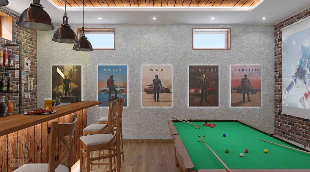 Дизайн интерьера бара кафе в Тюмени ул. Федерации, 37. Мужской среда (5)