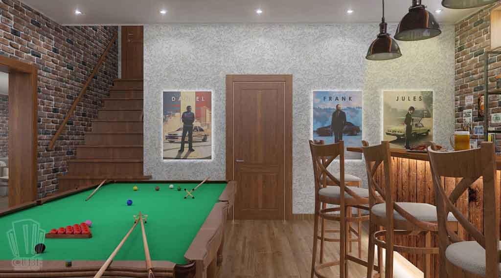 Дизайн интерьера бара кафе в Тюмени ул. Федерации, 37. Мужской среда (6)
