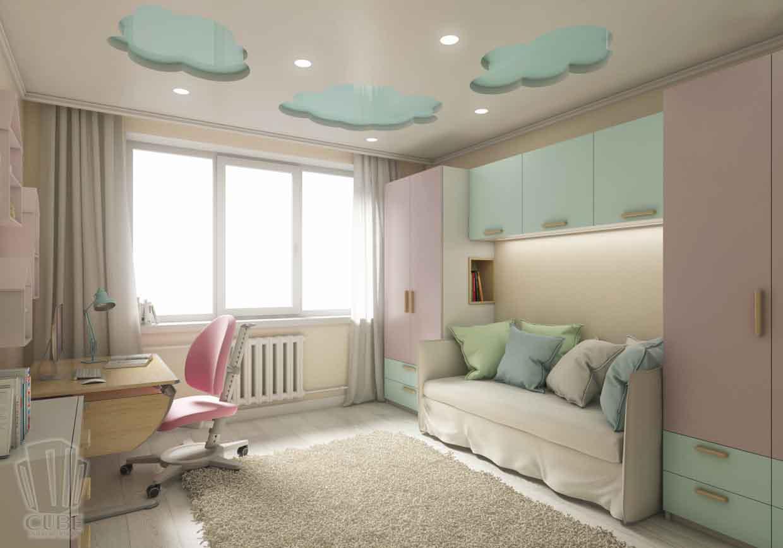 Дизайн интерьера квартиры в Тюмени Николая Семенова д.21. Подарок для мамы (10)