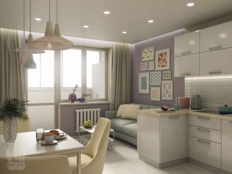 Дизайн интерьера квартиры в Тюмени Николая Семенова д.21. Подарок для мамы (12)