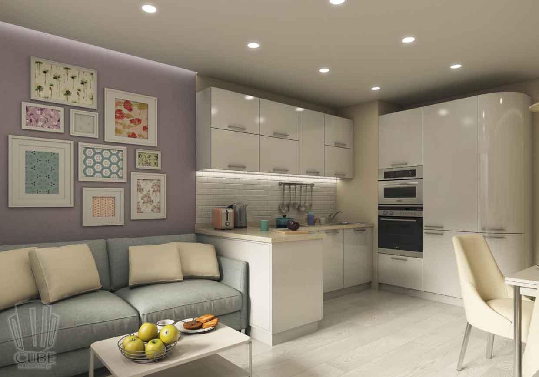Дизайн интерьера квартиры в Тюмени Николая Семенова д.21. Подарок для мамы (14)