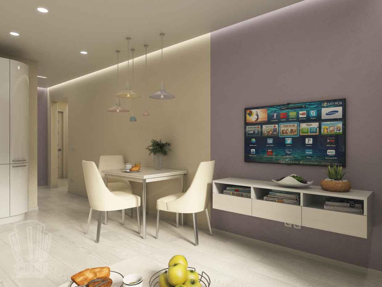 Дизайн интерьера квартиры в Тюмени Николая Семенова д.21. Подарок для мамы (15)