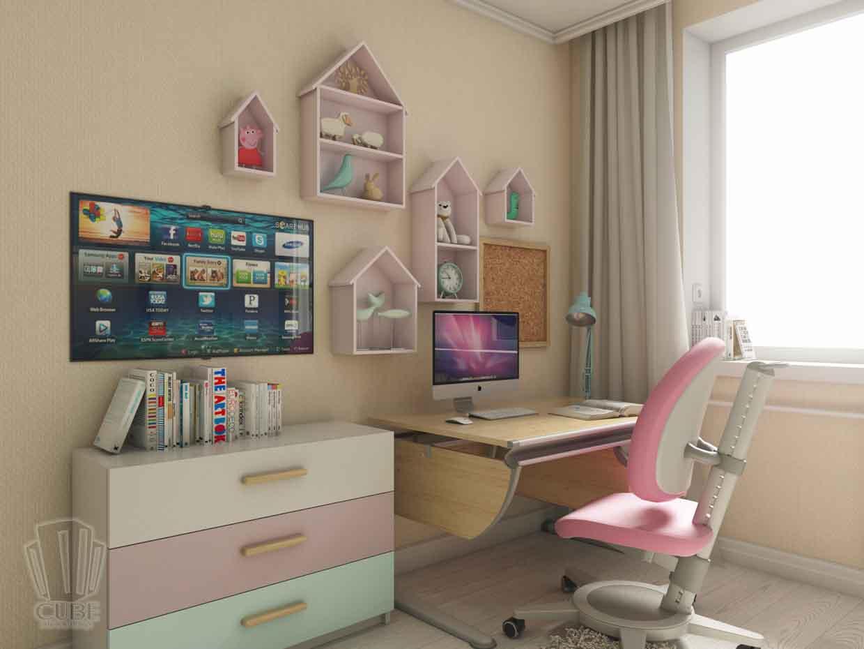 Дизайн интерьера квартиры в Тюмени Николая Семенова д.21. Подарок для мамы (6)