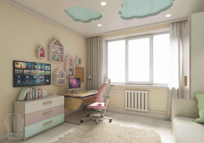Дизайн интерьера квартиры в Тюмени Николая Семенова д.21. Подарок для мамы (7)
