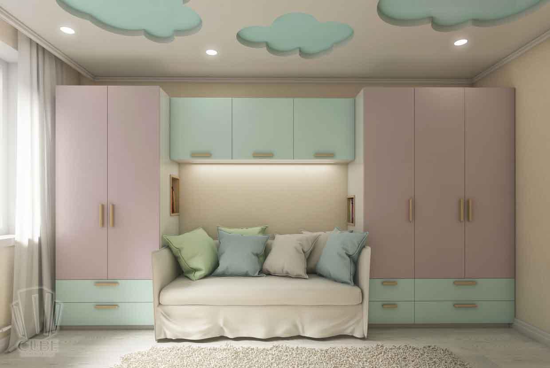 Дизайн интерьера квартиры в Тюмени Николая Семенова д.21. Подарок для мамы (8)