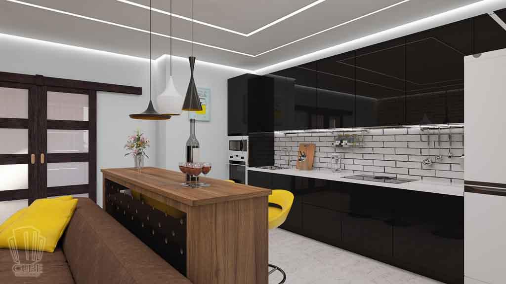 Дизайн квартиры в Тюмени Монтажников, д. 43. Соединение двух квартир (10)