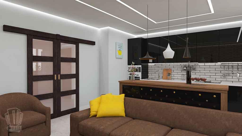 Дизайн квартиры в Тюмени Монтажников, д. 43. Соединение двух квартир (11)