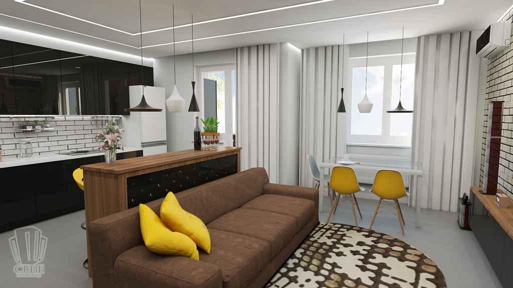 Дизайн квартиры в Тюмени Монтажников, д. 43. Соединение двух квартир (12)