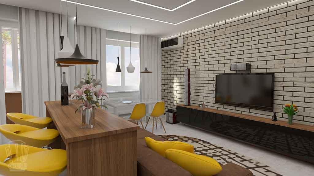 Дизайн квартиры в Тюмени Монтажников, д. 43. Соединение двух квартир (13)