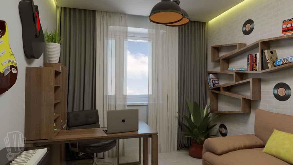 Дизайн квартиры в Тюмени Монтажников, д. 43. Соединение двух квартир (14)