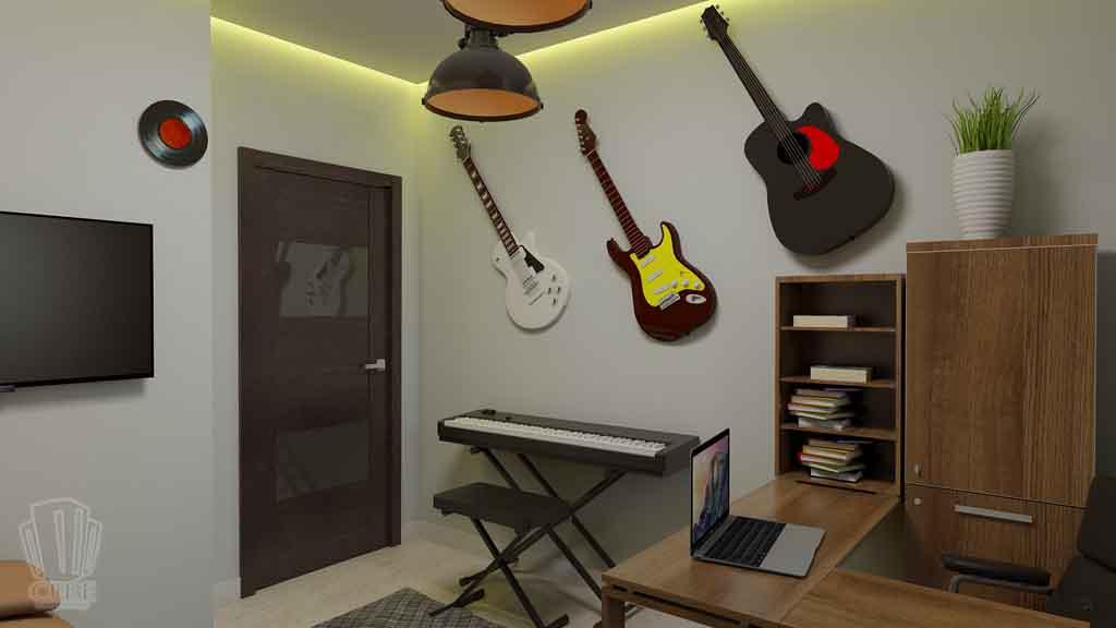 Дизайн квартиры в Тюмени Монтажников, д. 43. Соединение двух квартир (15)