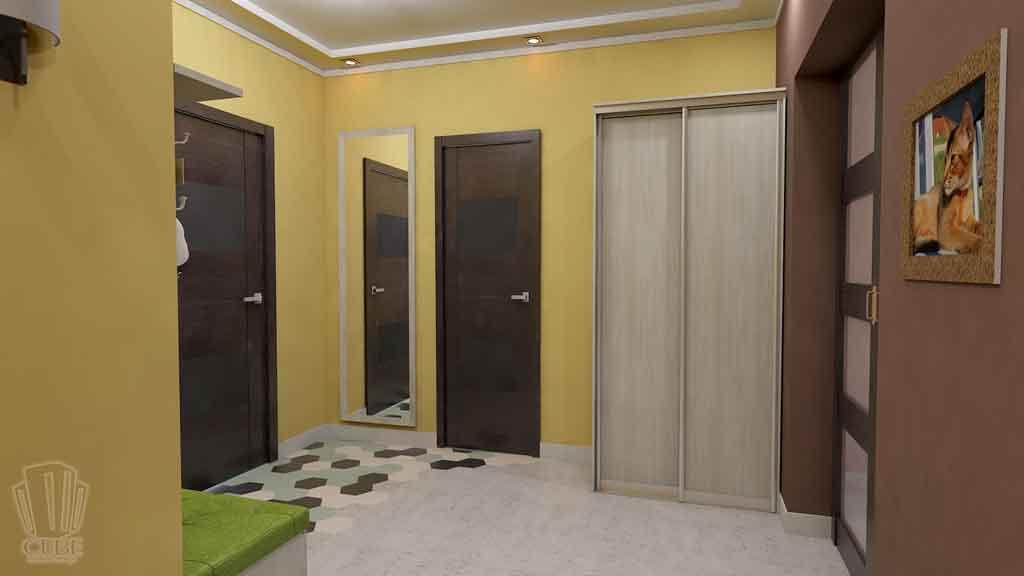 Дизайн квартиры в Тюмени Монтажников, д. 43. Соединение двух квартир (18)