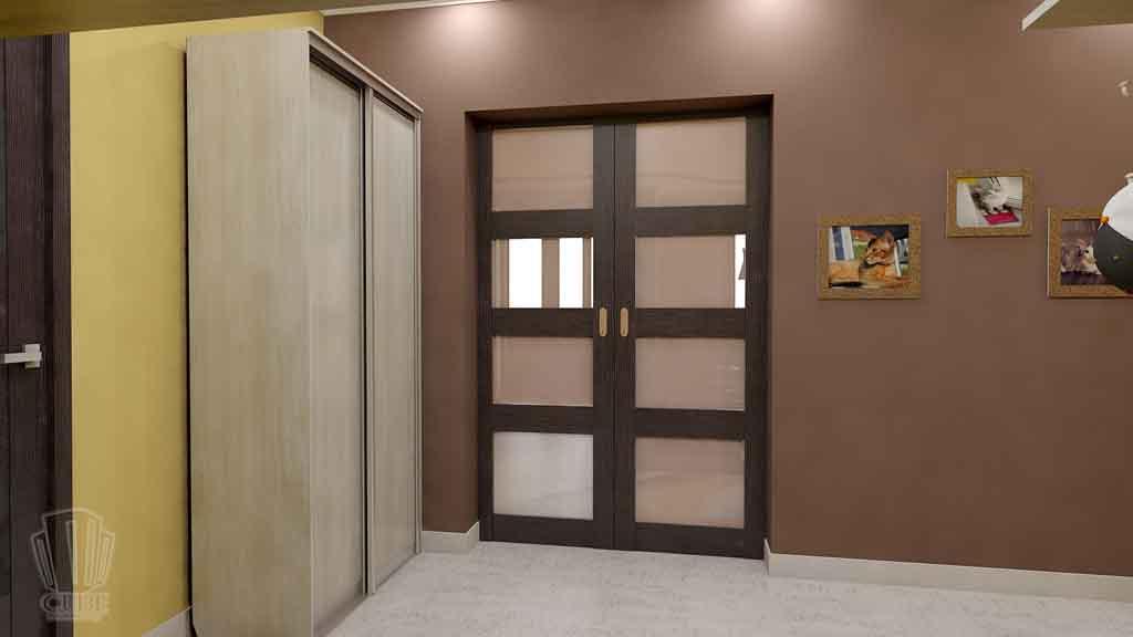 Дизайн квартиры в Тюмени Монтажников, д. 43. Соединение двух квартир (19)