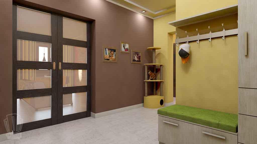 Дизайн квартиры в Тюмени Монтажников, д. 43. Соединение двух квартир (20)