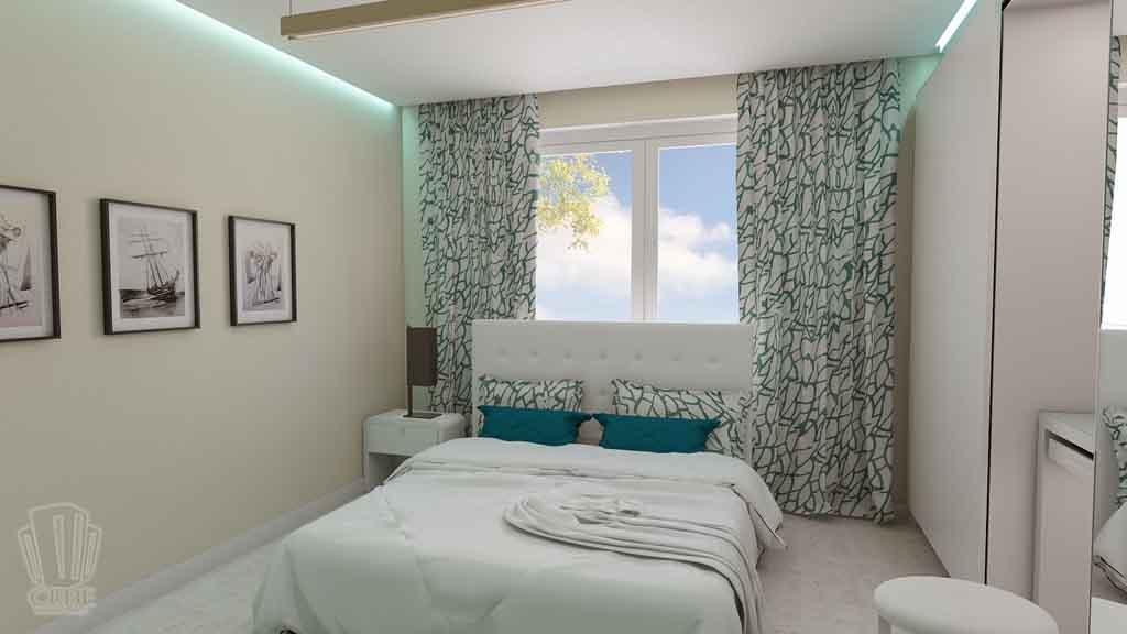 Дизайн квартиры в Тюмени Монтажников, д. 43. Соединение двух квартир (21)