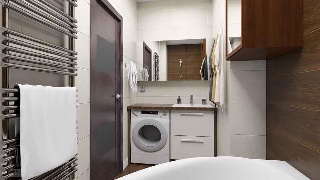 Дизайн квартиры в Тюмени Монтажников, д. 43. Соединение двух квартир (25)