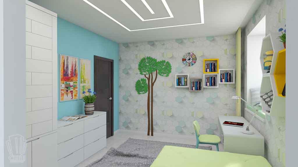 Дизайн квартиры в Тюмени Монтажников, д. 43. Соединение двух квартир (5)