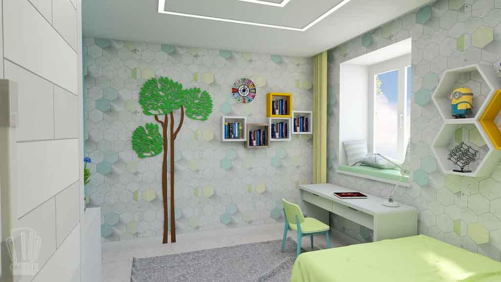 Дизайн квартиры в Тюмени Монтажников, д. 43. Соединение двух квартир (7)