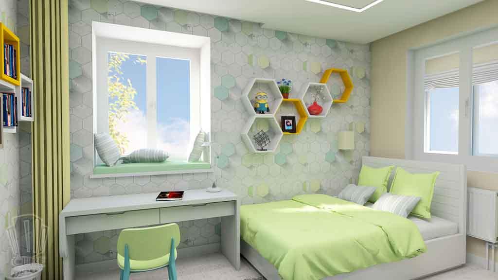 Дизайн квартиры в Тюмени Монтажников, д. 43. Соединение двух квартир (8)