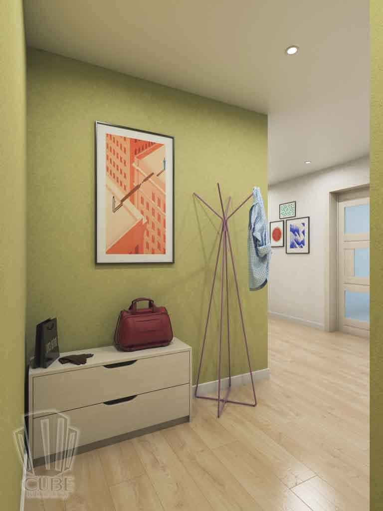 Дизайн квартиры в Тюмени. Город Тюмень, ул. Харьковская д.69. Больше цвета (9)