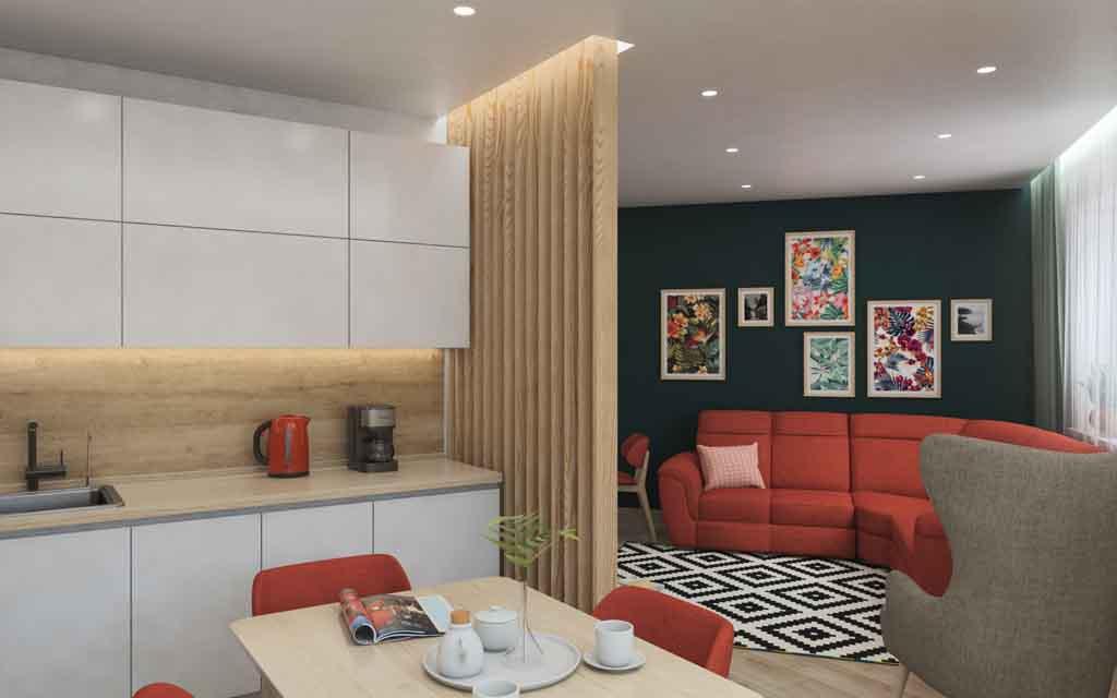 Тюмень улица Маршала Захарова д. 11. Гостиная для большой семьи Дизайн (3)