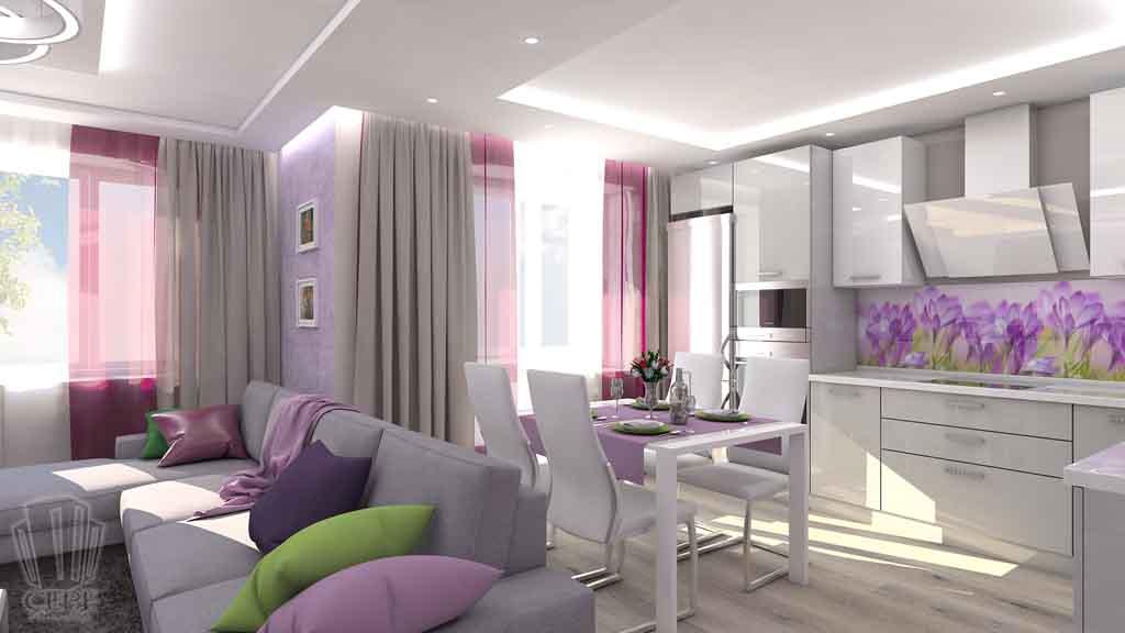 Тюмень улица М. Сперанского д.33. Насыщенная гостиная дизайн проект интерьера (1)