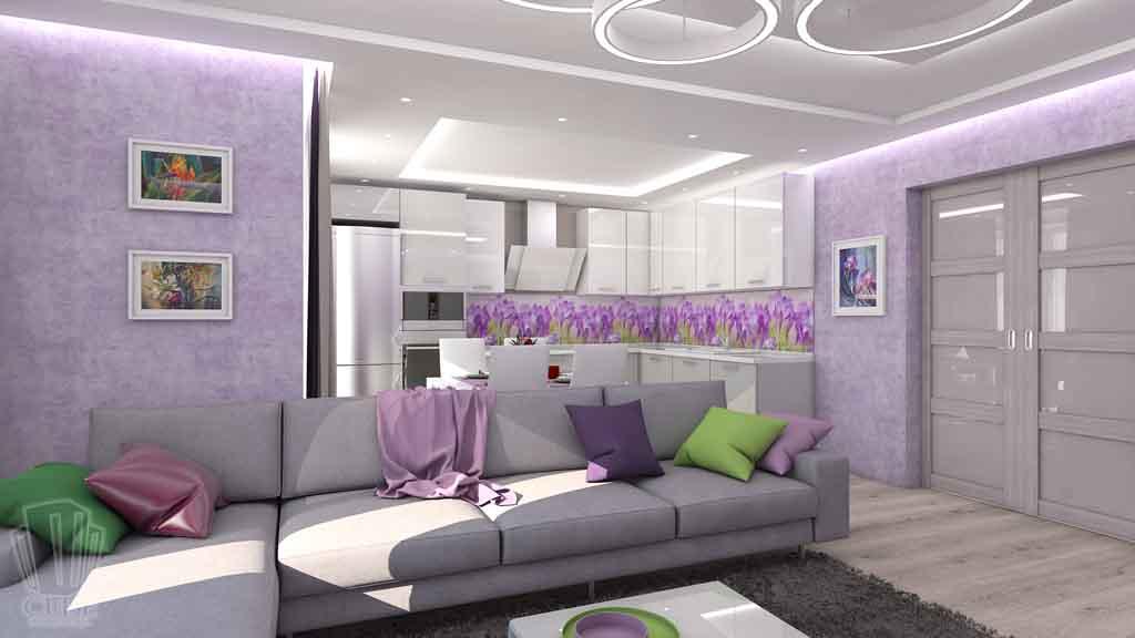 Тюмень улица М. Сперанского д.33. Насыщенная гостиная дизайн проект интерьера (3)