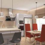 Красные стулья в дизайне кухни смелое решение дизайнера интерьера