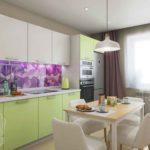 Дизайн кухни-гостиной в Тюмени CUBE