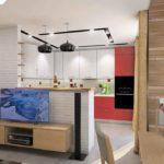 Кухня-гостиная интересное дизайнерское решение, супер выглядит
