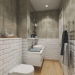 Санузел и ванная в стиле лофт Тюмень