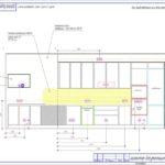 Схема разверток стен кухни