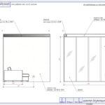 Схема разверток стен гостиной