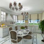 Дизайн интерьера дома кухни-столовой. г. Тюмень, 2015 г.