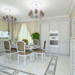Дизайн интерьера кухни-столовой. г. Тюмень, 2015 г.