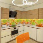 Яркая кухня в Тюмени. Дизайн интерьера от CUBE