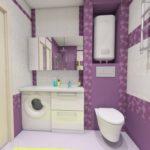 Дизайн-проект санузла и ванной в Тюменской квартире