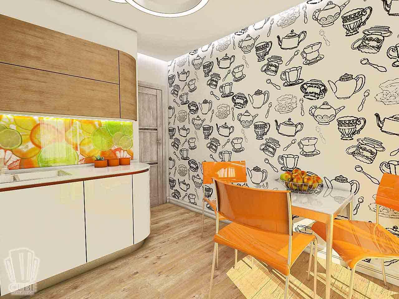 Дизайн интерьера в Тюмени м-н Преображенский Яркая квартира для друзей (10)