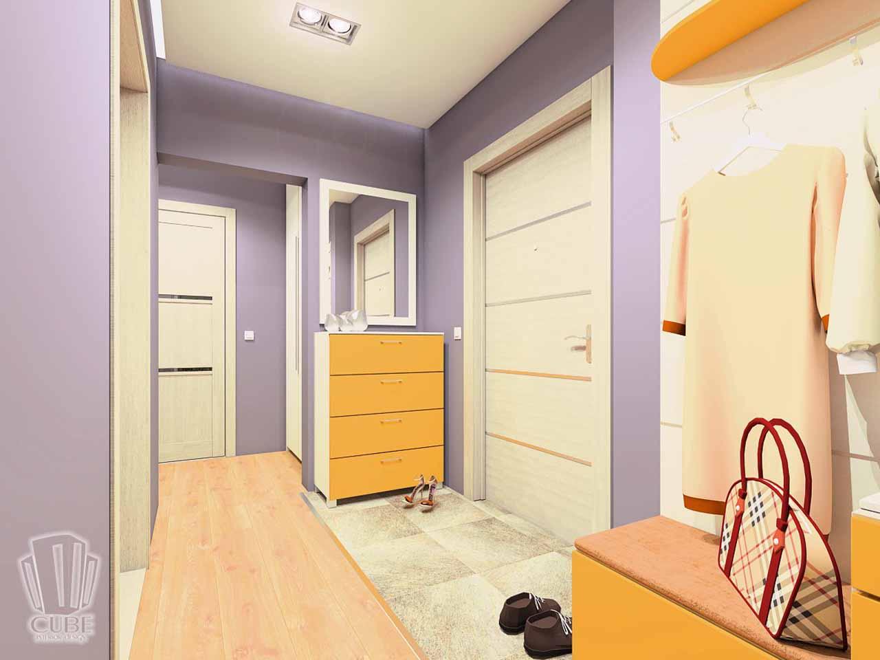 Дизайн интерьера в Тюмени м-н Преображенский Яркая квартира для друзей (12)