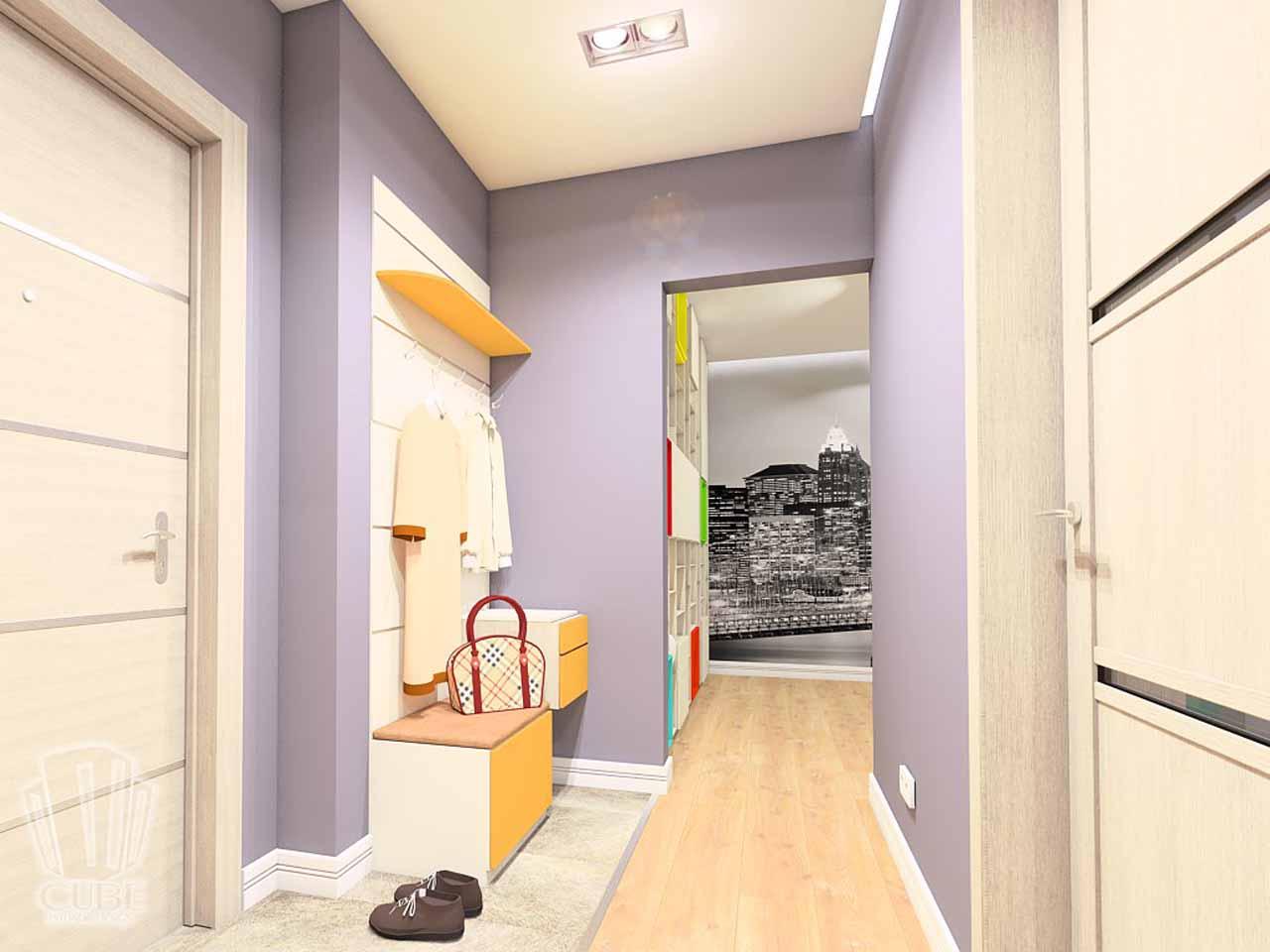Дизайн интерьера в Тюмени м-н Преображенский Яркая квартира для друзей (2)