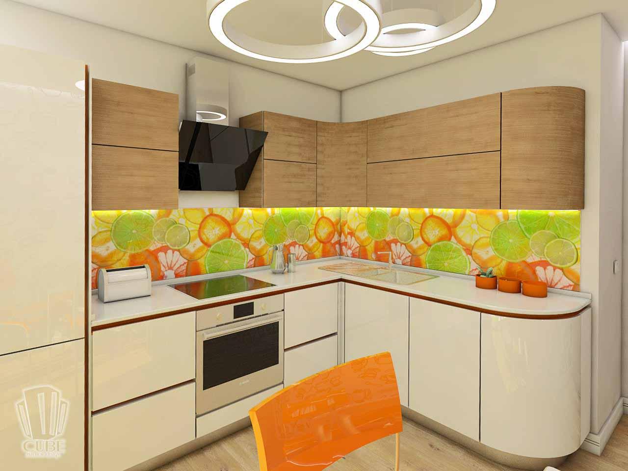 Дизайн интерьера в Тюмени м-н Преображенский Яркая квартира для друзей (3)