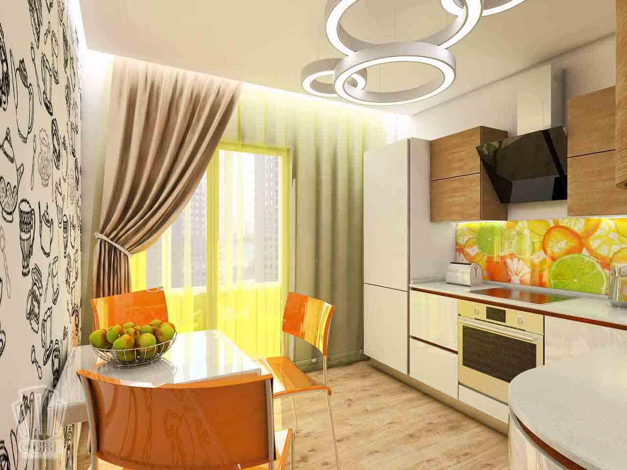 Дизайн интерьера в Тюмени м-н Преображенский Яркая квартира для друзей (8)