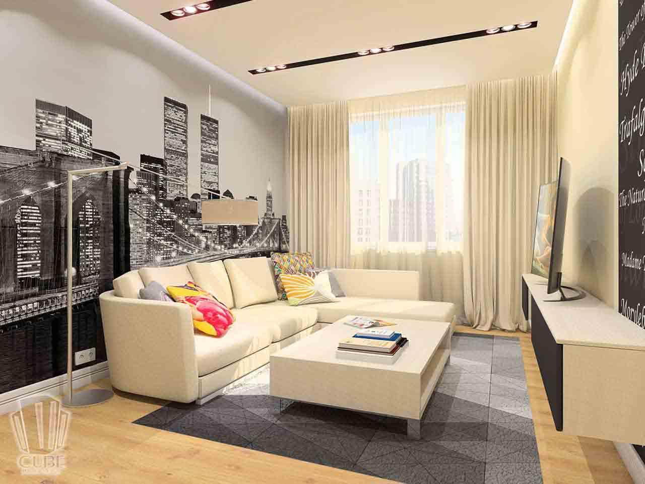 Дизайн интерьера в Тюмени м-н Преображенский Яркая квартира для друзей (9)