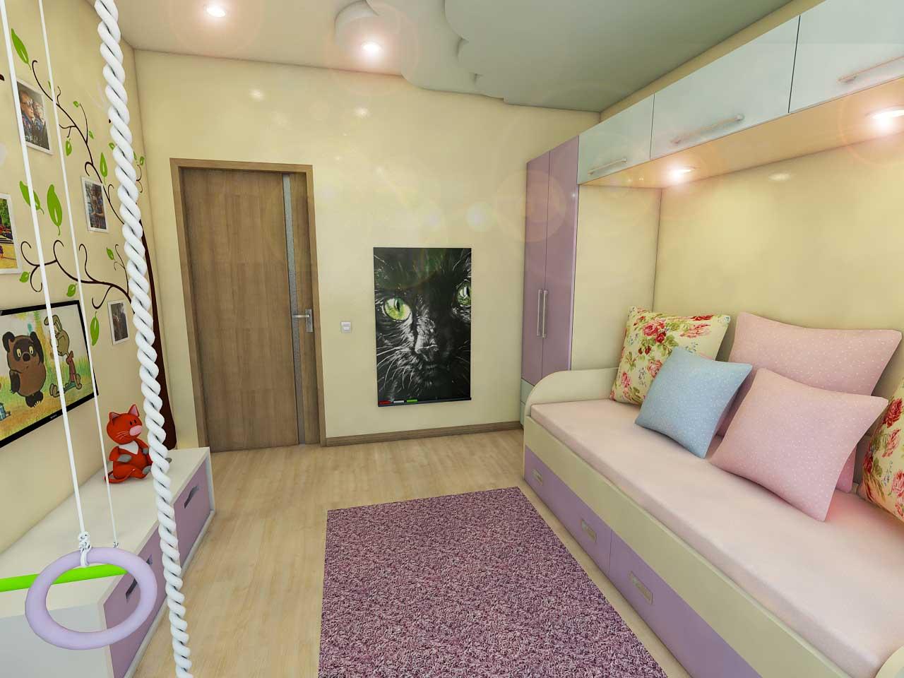 Дизайн-проект интерьера. Тюмень ул. Широтная д.158. Квартира для молодой семьи (5)