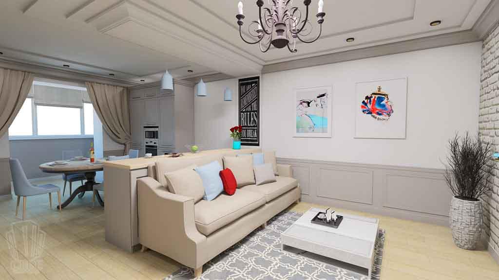 Дизайн-проект ул. Институская 2а, Неоклассика в интерьере Тюмени (11)