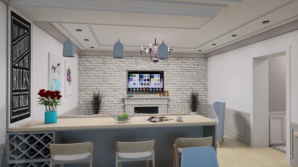 Дизайн-проект ул. Институская 2а, Неоклассика в интерьере Тюмени (12)