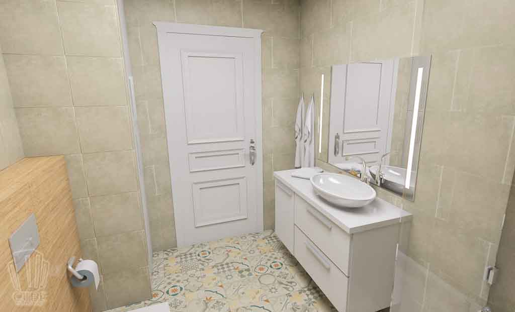 Дизайн-проект ул. Институская 2а, Неоклассика в интерьере Тюмени (25)